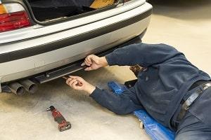 Mechanic doing auto body repair in Georgia at Bavarian Body Works