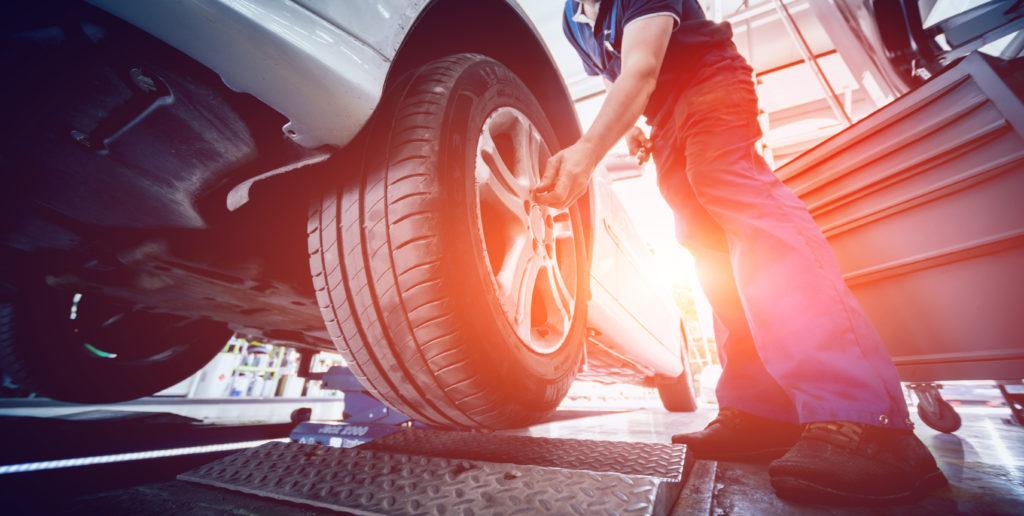 Automotive suspension test and brake test